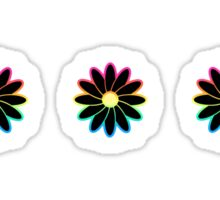 Simple Black & White Daisy Pattern  Sticker