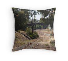 old railway tracks Throw Pillow