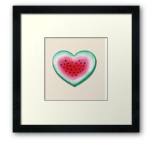 Summer Love - Watermelon Heart Framed Print