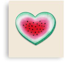 Summer Love - Watermelon Heart Canvas Print