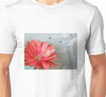 Cactus Flower In A Swan Dive Unisex T-Shirt