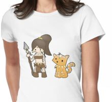 Chibi Nidalee Womens Fitted T-Shirt
