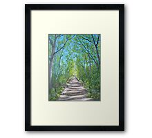 Deep inside the forest Framed Print
