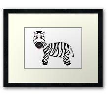 Black and White Zebra Framed Print