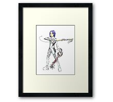 Kingdom hearts styled character design Framed Print