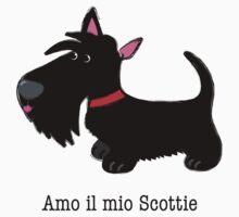 Amo il mio Scottie (I love my Scottie – Italian) Kids Tee