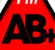 AB+ blood type information / stay safe, I suggest application to helmets Sticker