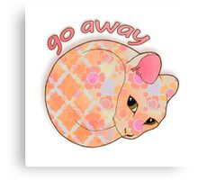 Go Away - Patterned Cat Illustration Canvas Print