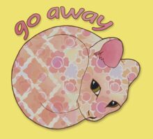 Go Away - Patterned Cat Illustration Kids Clothes