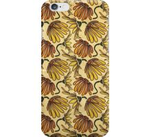 Retro 70's Golden Yellow Daisy Pattern  iPhone Case/Skin