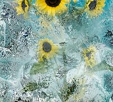 Sunflowers With Splash by Diane Schuster