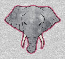 Elephant Pattern on Pink One Piece - Long Sleeve