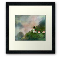 Heceta Head Lighthouse Florence Oregon Framed Print