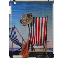 Folding Chairs Watching, Contemplating The Sunset iPad Case/Skin