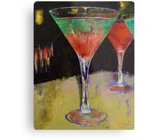 Watermelon Martini Metal Print