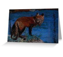 Mischievous, As In Fox Greeting Card