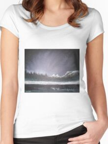 Winters Night Women's Fitted Scoop T-Shirt