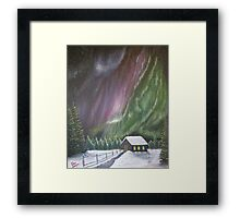 Christmas Glory (Gods Christmas lights) Framed Print