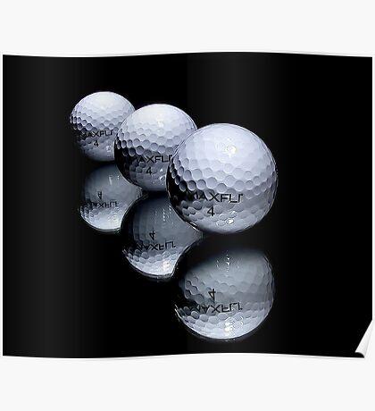 3 Golf Balls Poster