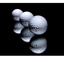 3 Golf Balls Photographic Print