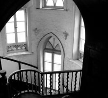 Stair view inside Granite Castle by nicolaMY