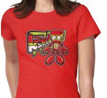 Cyborg Mascot Tag Womens Fitted T-Shirt