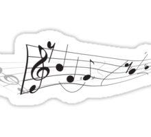 Totally Twisting Music Sticker