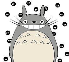 Totoro Inspired Art by sandeedwards
