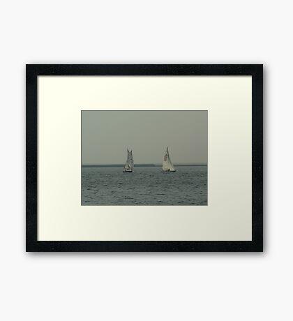 Sailing on Lake Michigan Framed Print