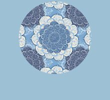 Lacy Blue & Navy Mandala Pattern Womens Fitted T-Shirt