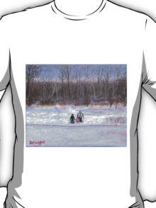 Christmas sledding in Wisconsin T-Shirt