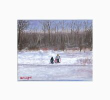 Christmas sledding in Wisconsin Unisex T-Shirt