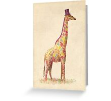 Fashionable Giraffe Greeting Card