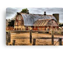 Rusty Roofed Barn Canvas Print