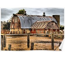 Rusty Roofed Barn Poster