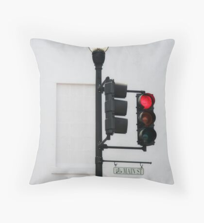 Stop on Main Street Throw Pillow
