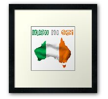 Irish In Oz! T Shirts, Stickers and Other Gifts Framed Print