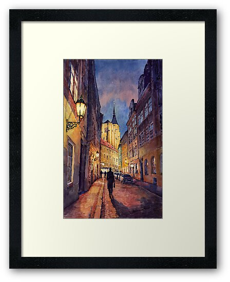 Prague Husova street by Yuriy Shevchuk