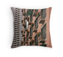 Living And Working In Boston Throw Pillow