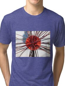 Abstract Red Tri-blend T-Shirt