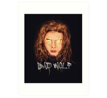 Are You Afraid of the Big Bad Wolf? Art Print