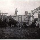 My grandpa's wheat threshing rig 1930 by Samohsong