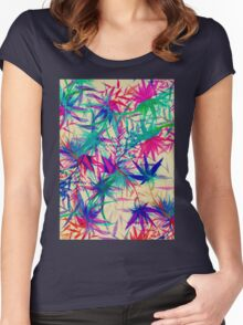 Tropical Jungle - a watercolor painting Women's Fitted Scoop T-Shirt