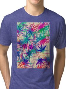 Tropical Jungle - a watercolor painting Tri-blend T-Shirt