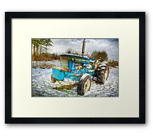 Tractor in Winter Framed Print