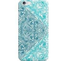 Teal Tangle Square iPhone Case/Skin
