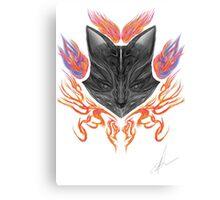 Spirit of the Flaming Fox Canvas Print
