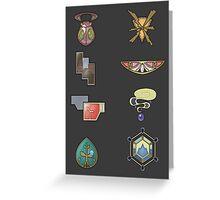 The Kalos Gym Badges Greeting Card