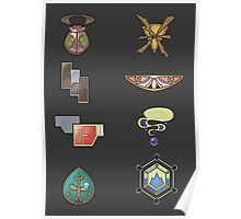 The Kalos Gym Badges Poster