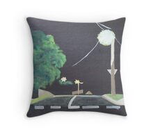 End of the Street Throw Pillow